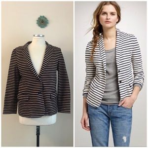 J. Crew • striped maritime blazer jacket in black